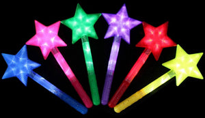 Light Up Star with Handle - Dallas General Wholesale