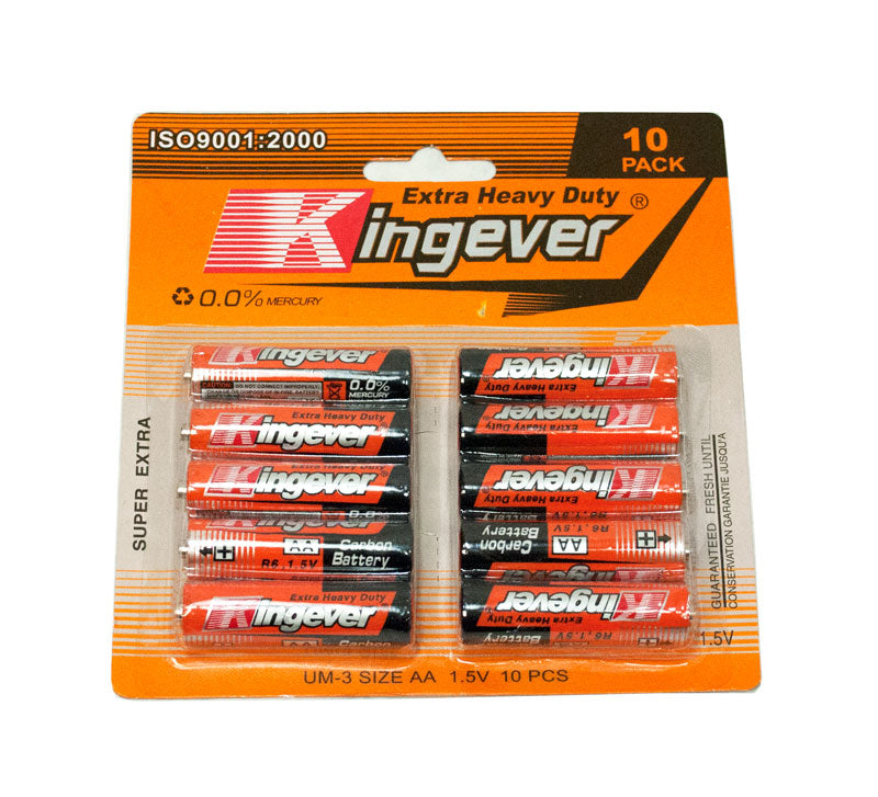 Kingever 10PC AA Batteries - Dallas General Wholesale