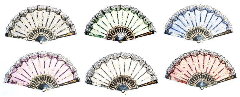 Laced Flower Hand Folding Fan - Dallas General Wholesale