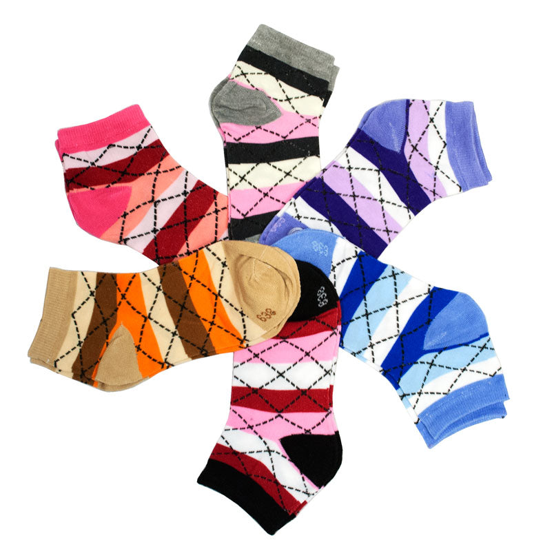 Ladies Cotton Casual Ankle Socks - Dallas General Wholesale
