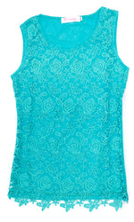 Ladies Fashion Apparel Lace Layer Sleeveless Blouses Wholesale - Dallas General Wholesale
