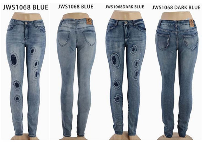 Fashion Patch Skinny Jeans Wholesale - Dallas General Wholesale