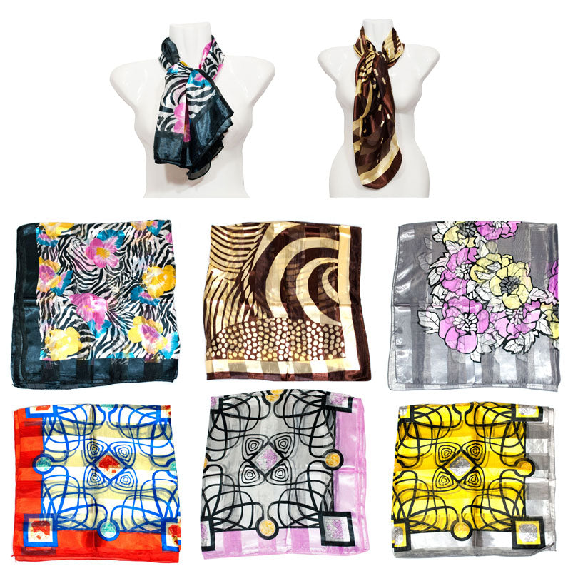 Printed Silk Fashion Scarf Wholesale - Dallas General Wholesale