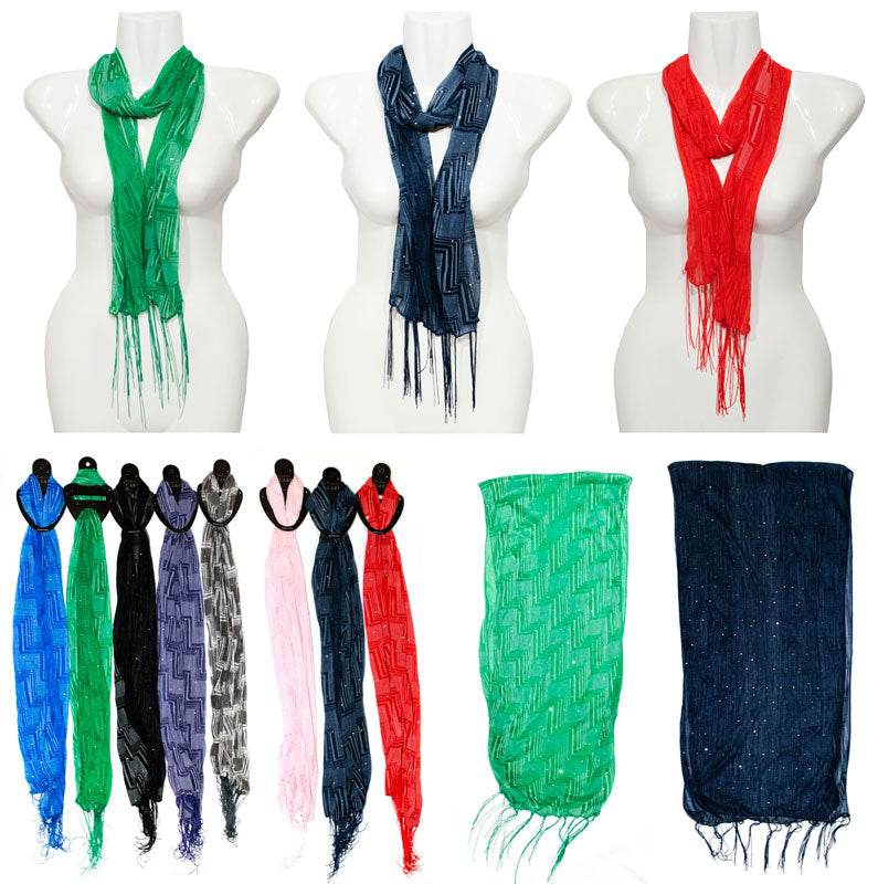 Ladies Sheer Spring Scarf Wholesale - Dallas General Wholesale