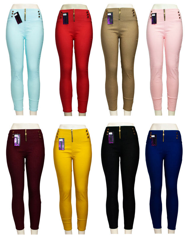 Ladies Fitted Pull On Pants - Dallas General Wholesale