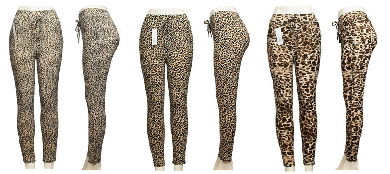 Animal Printed Pull On Casual Pants - Dallas General Wholesale