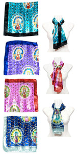 Virgin Mary Printed Silk Fashion Scarf Wholesale - Dallas General Wholesale