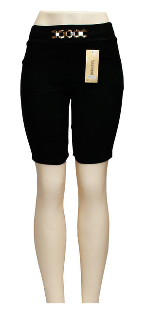 Ladies Fashion Pull On Bermudas Capris Pants - Dallas General Wholesale