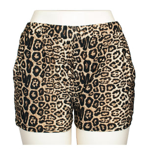 Casual Pull On Animal Print Shorts - Dallas General Wholesale