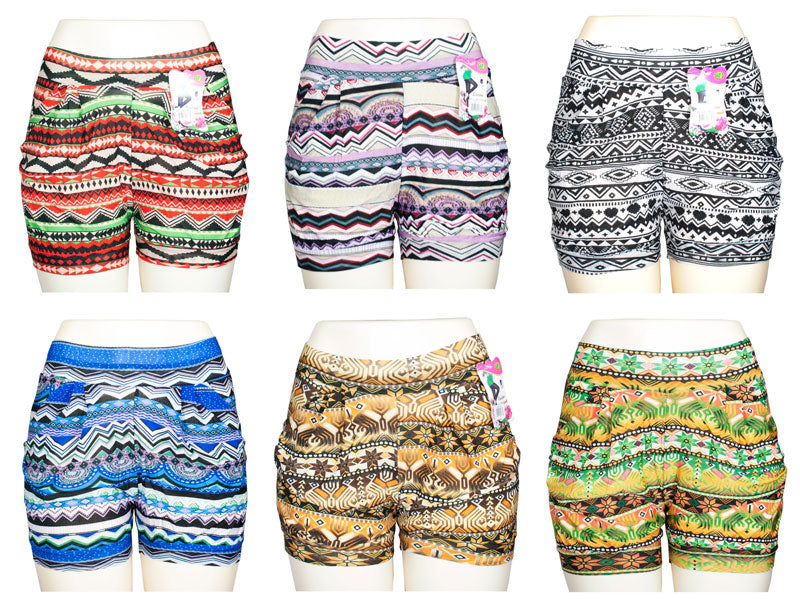 Casual Comfy Pull On Printed Shorts - Dallas General Wholesale