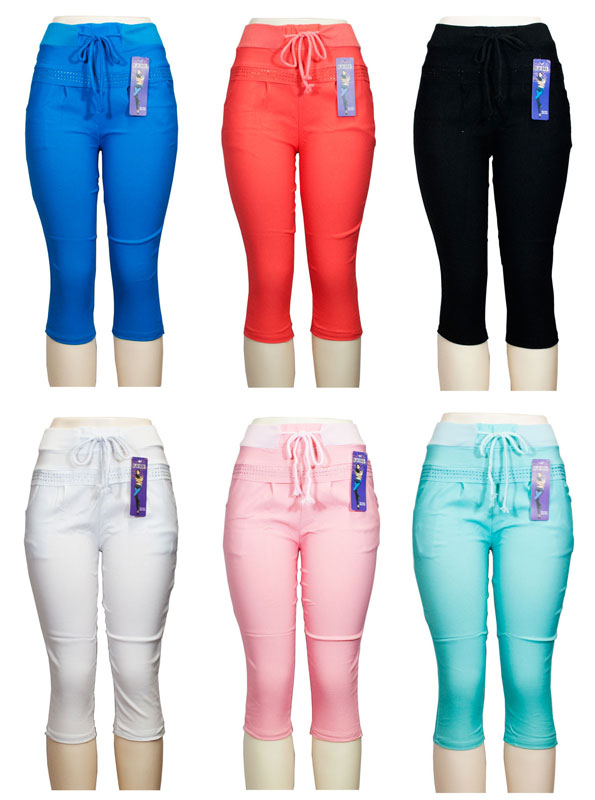 Girls Pull On Casual Capris Pants - Dallas General Wholesale