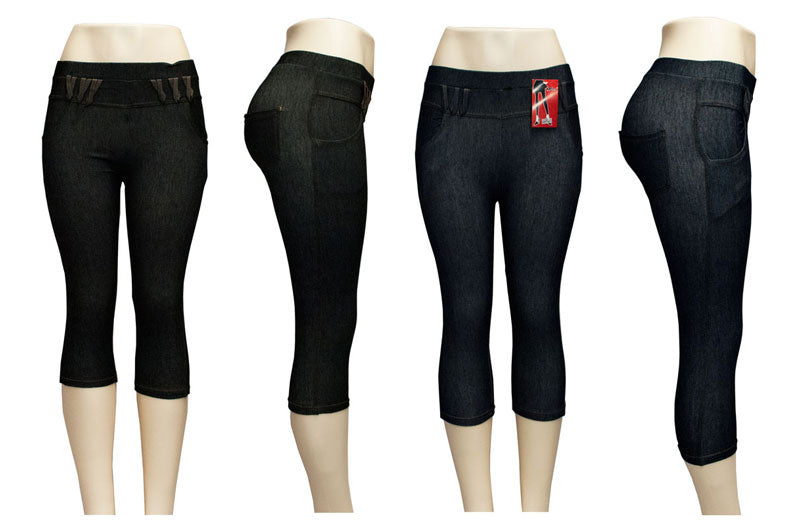 Girls Jeans Jegging Pull On Capris Pants - Dallas General Wholesale