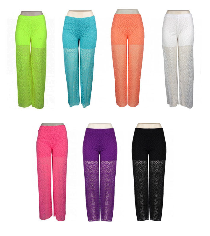Ladies Neon Color Beach Pants - Dallas General Wholesale