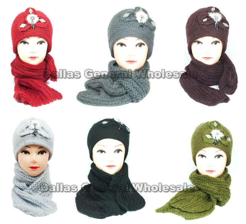 Ladies Beanie and Scarf Set Wholesale - Dallas General Wholesale
