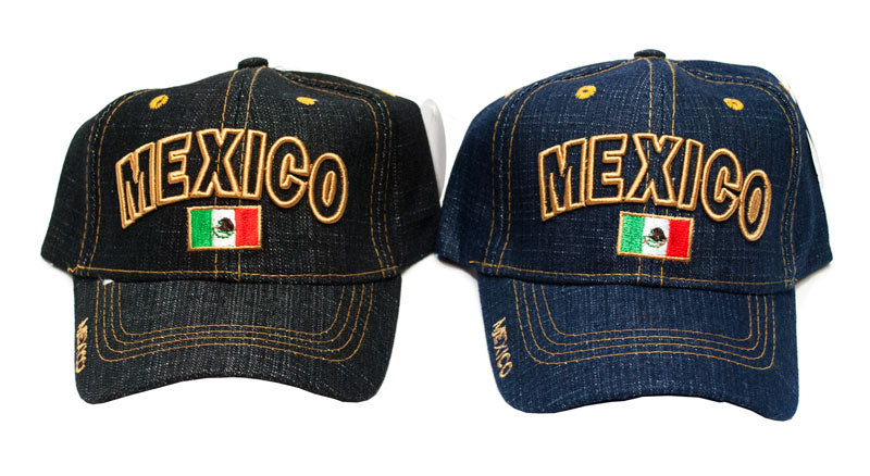 "Kids Casual Jeans Caps - ""MEXICO"" - Dallas General Wholesale"