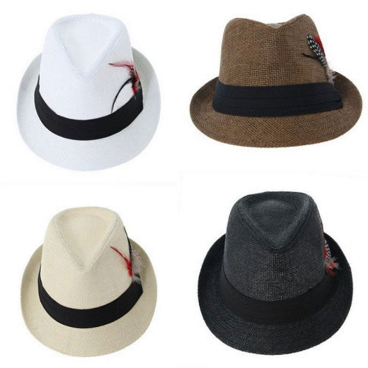 Fedora Hat with Feather - Dallas General Wholesale