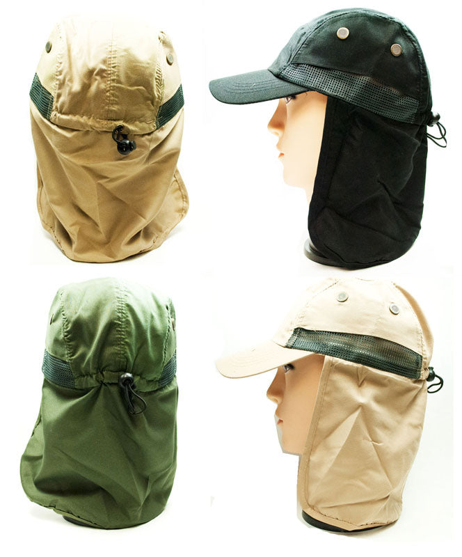 Cap with Neck Cover Protection - Dallas General Wholesale