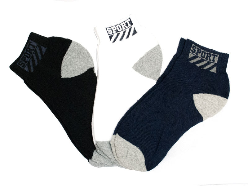 Men Cotton Sports Ankle Socks - Dallas General Wholesale