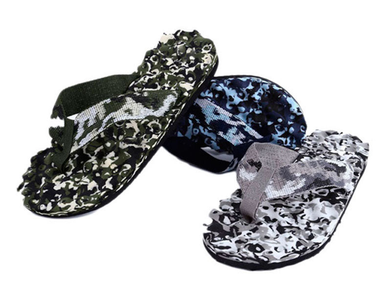 Men Camouflage Massage Flip Flops - Dallas General Wholesale