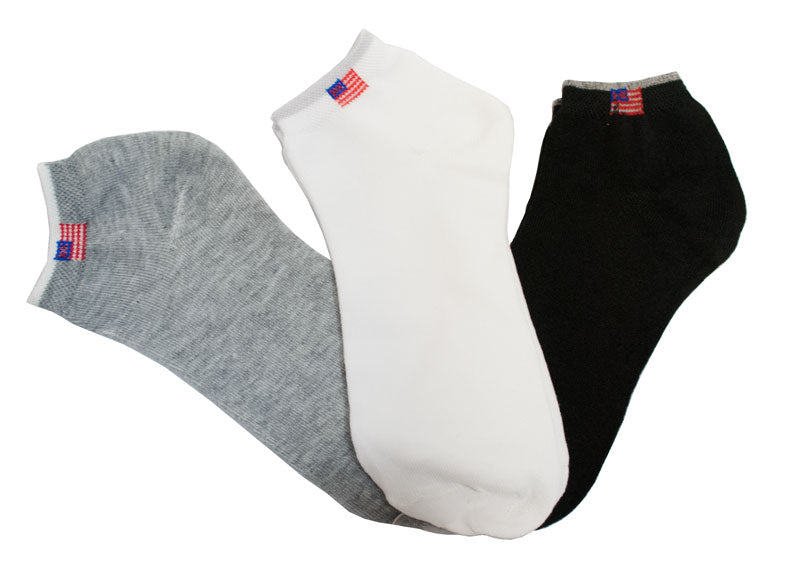 Thin Cotton Solid Color Casual Socks-USA Flag - Dallas General Wholesale