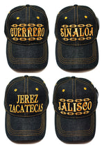 Fashion Casual Denim Jeans Caps with Mexico States Designs - Dallas General Wholesale