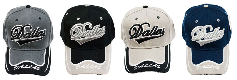 """DALLAS"" Casual Baseball Caps - Dallas General Wholesale"