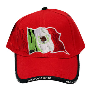 "Casual Baseball Caps with ""Mexico Flag"" Designs - Dallas General Wholesale"