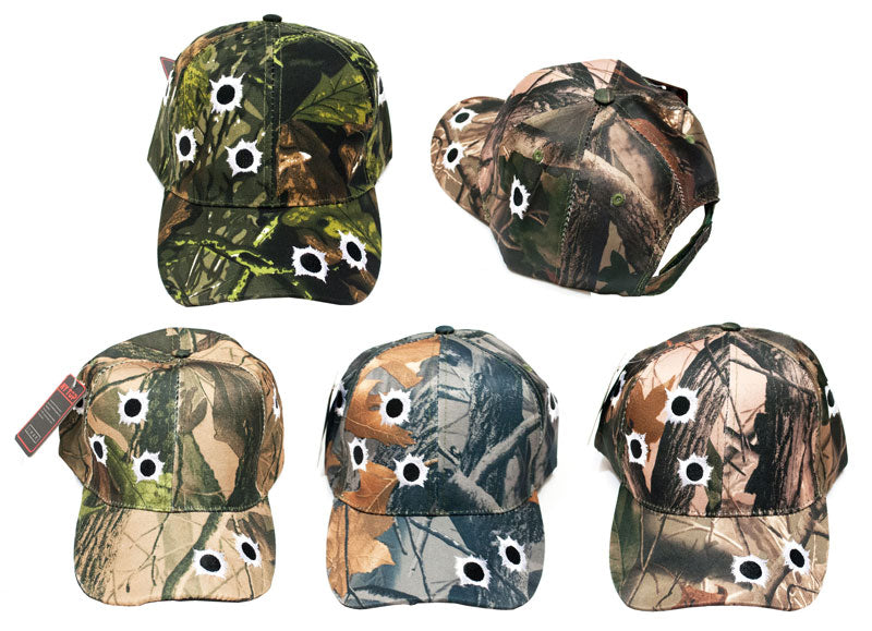 """Bullet"" Camouflage Casual Baseball Caps - Dallas General Wholesale"