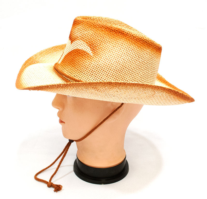 Long Horn Straw Cowboy Hats - Dallas General Wholesale