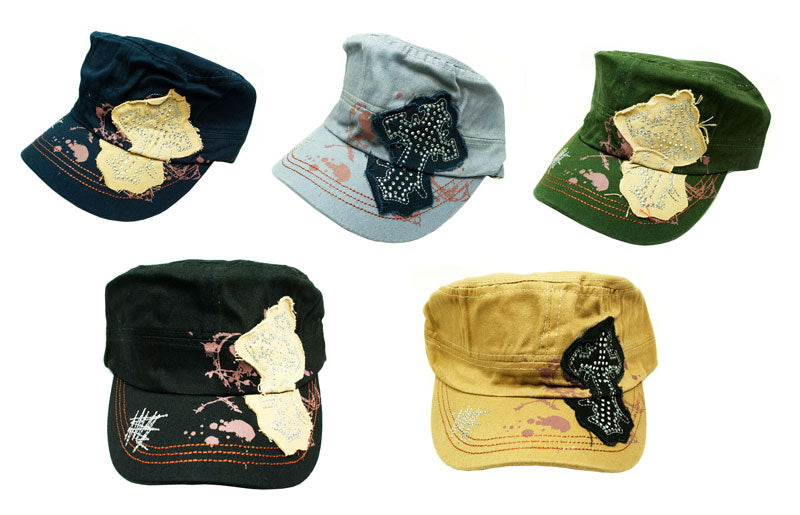 Patched Cross Cadet Cap - Dallas General Wholesale
