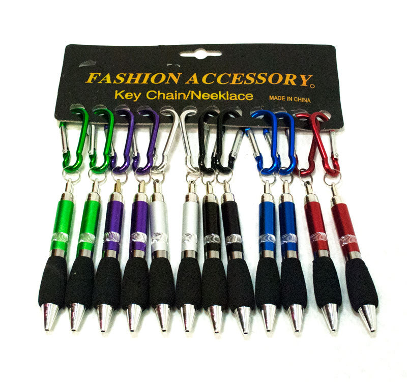 Aluminum Snap Keychain With Pen - Dallas General Wholesale