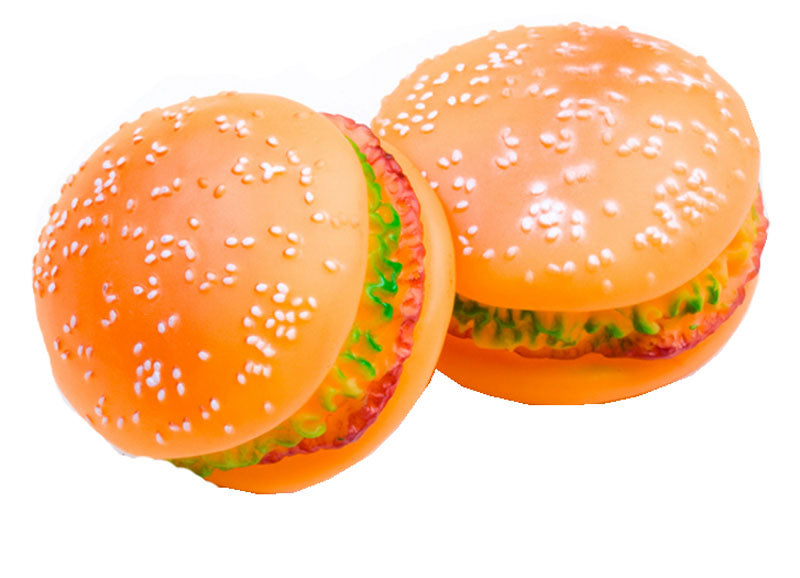 Hamburger Chewy Squeaky Toy - Dallas General Wholesale