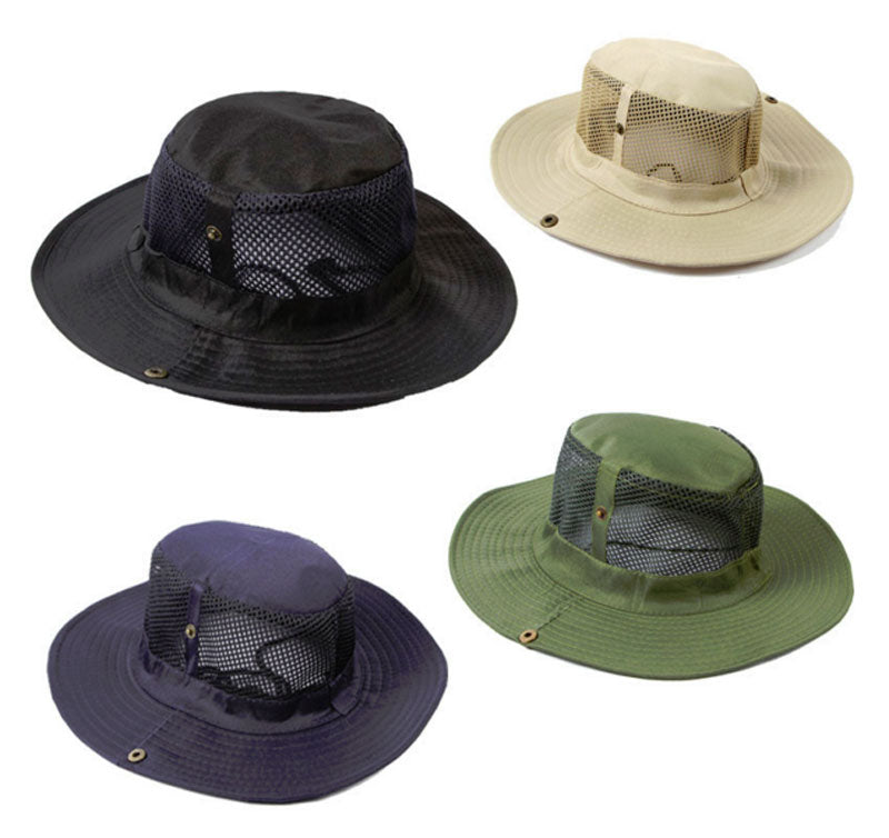 Solid Color Mesh Boonie Hats - Dallas General Wholesale