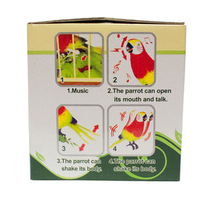 Sound & Motion Activated Singing Parrots - Dallas General Wholesale