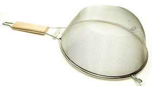 Stainless Steel Colander with Wooden Handle - Dallas General Wholesale