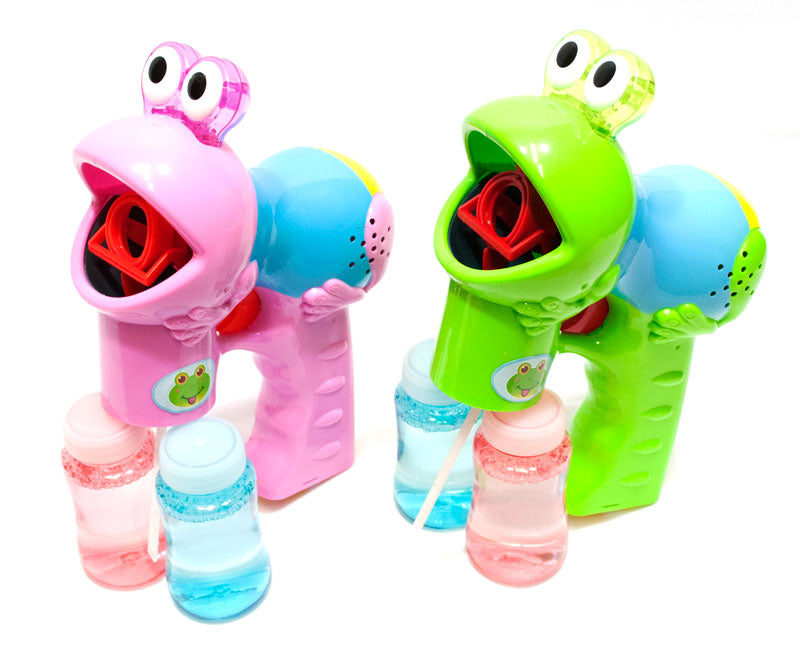 Frog Shaped Bubble Blaster Gun - Dallas General Wholesale