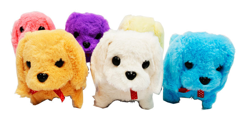Toy Fluffy Dogs Barks & Walks - Dallas General Wholesale