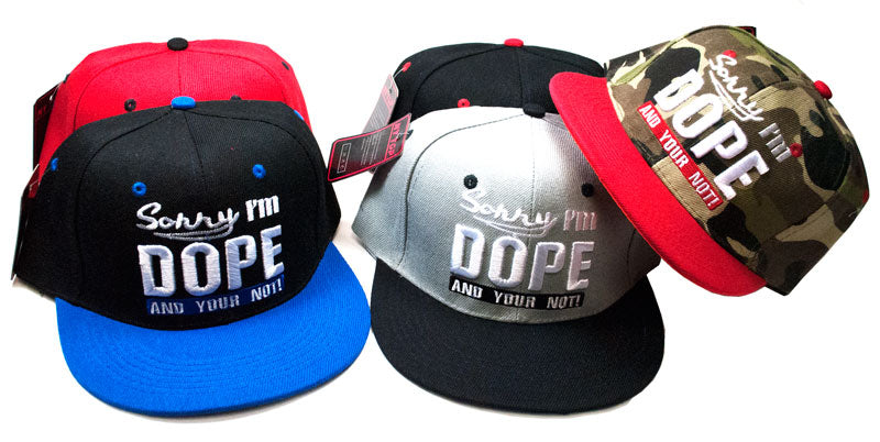 DOPE Flat Bill Caps - Dallas General Wholesale