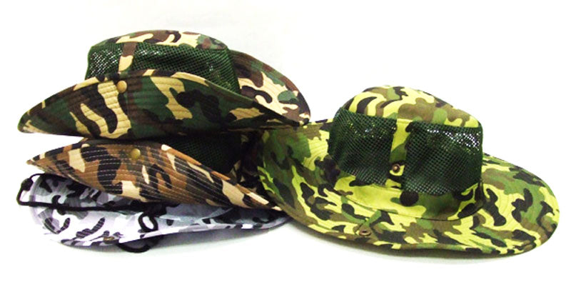 Camouflage Mesh Boonie Hats - Dallas General Wholesale