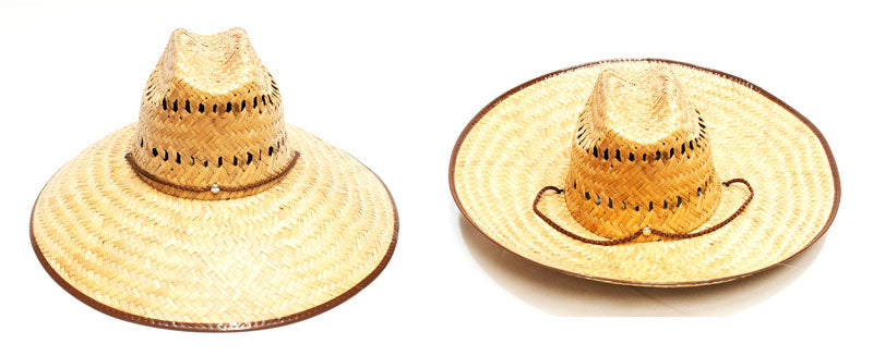Vented Foldable Wide Brim Sombrero Straw Hats - Dallas General Wholesale