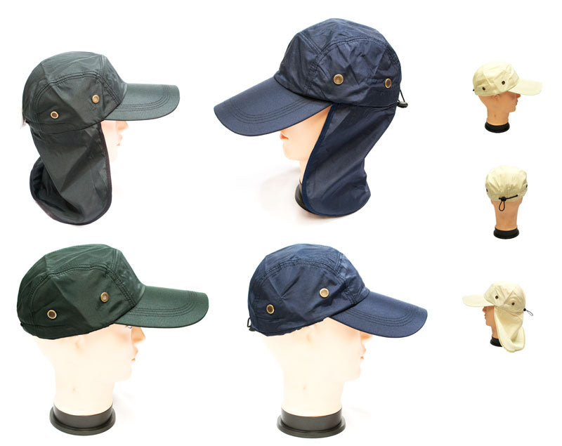 Caps with Neck Flap Protection - Dallas General Wholesale