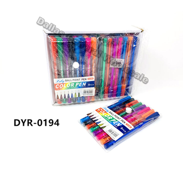 8 PC Ball Point Pens Wholesale - Dallas General Wholesale