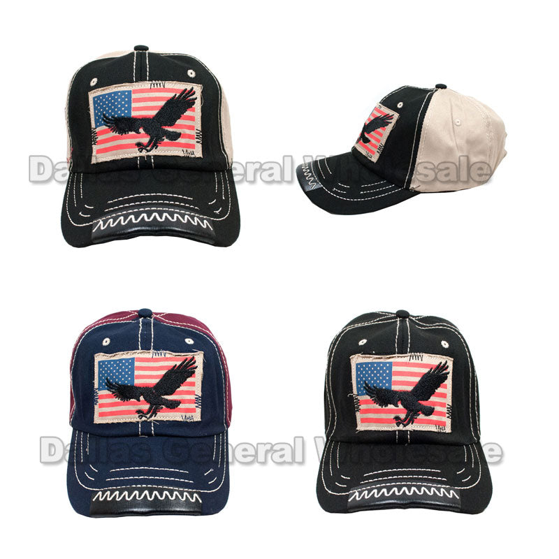 USA Flag Eagle Trucker Caps Wholesale - Dallas General Wholesale