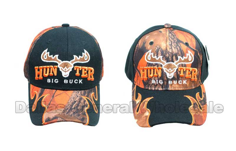 """HUNTER"" Baseball Caps - Dallas General Wholesale"