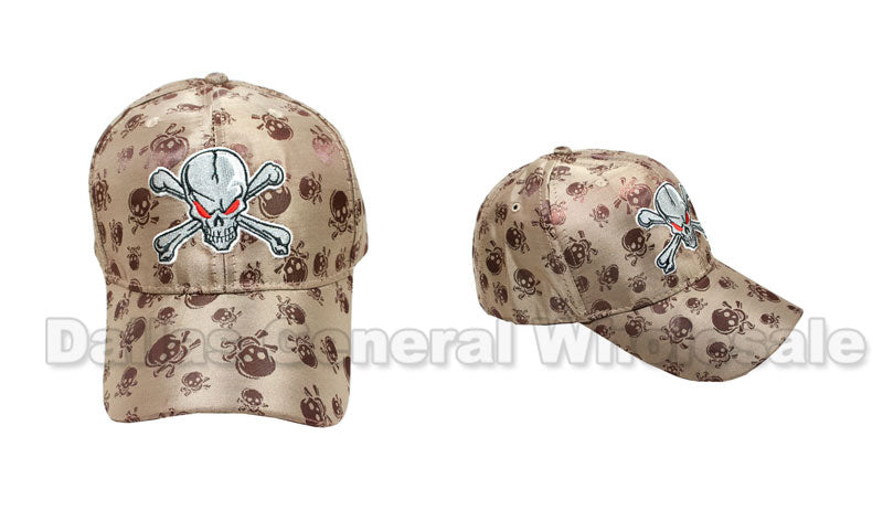 Skull Casual Baseball Caps Wholesale - Dallas General Wholesale