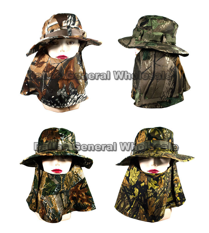 Hunting Buckets Hats with Cloak Wholesale - Dallas General Wholesale