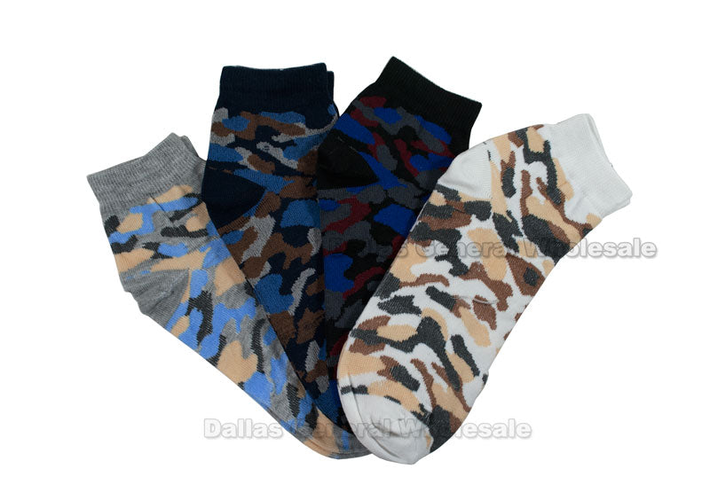 Men Thin Camouflage Ankle Socks Wholesale - Dallas General Wholesale