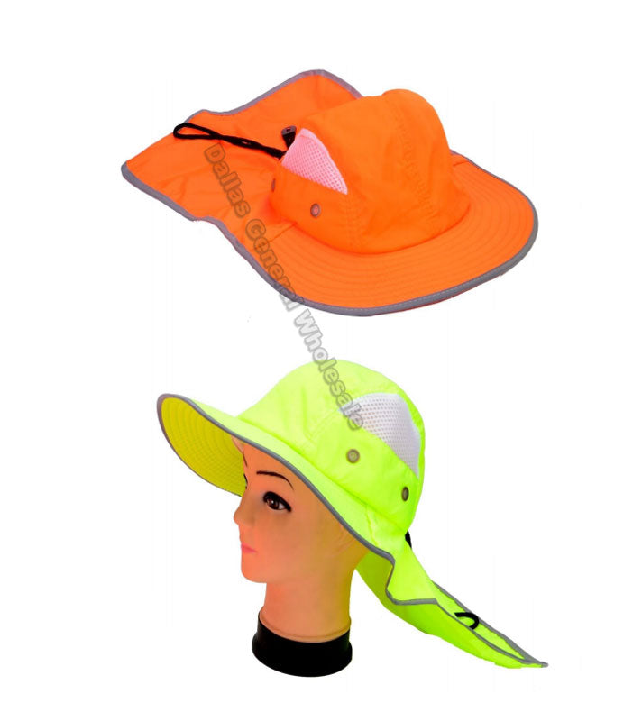Neon Color Bucket Hats with Neck Cloak Wholesale - Dallas General Wholesale