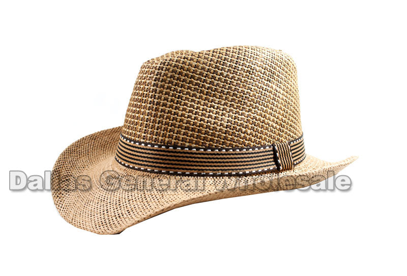 Wide Brim Straw Dress Hats Wholesale - Dallas General Wholesale