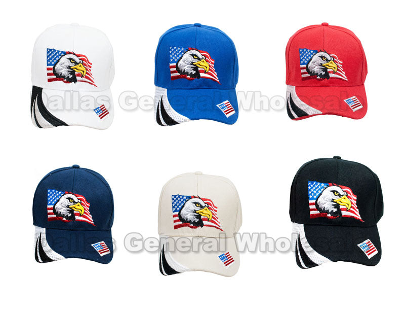 American Eagle Adults Casual Baseball Caps Wholesale - Dallas General Wholesale